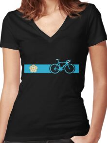 Bike Stripes Yorkshire Women's Fitted V-Neck T-Shirt