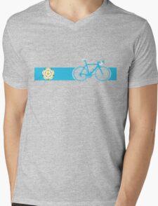 Bike Stripes Yorkshire Mens V-Neck T-Shirt