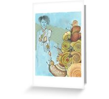snails ascending Greeting Card