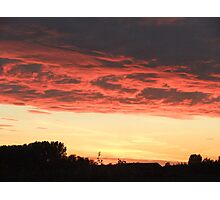 Sunset from Melbourne, East Yorkshire Photographic Print