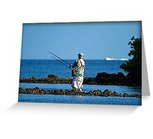 Wade Fishing  Greeting Card