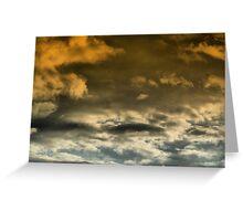 Looming Clouds...... Greeting Card