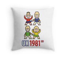 UK 1981 Throw Pillow