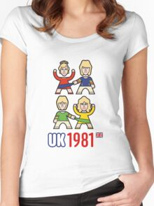 UK 1981 Women's Fitted Scoop T-Shirt