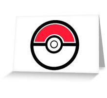 Pokemon Pokeball 1 Greeting Card