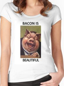 Bacon Is Beautiful Women's Fitted Scoop T-Shirt