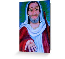Christ on the road Greeting Card