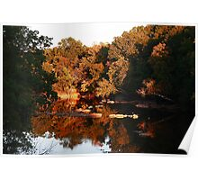 Sunset on the Haw River Poster