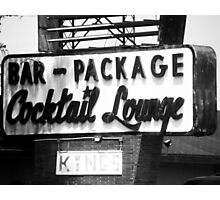 Lost in Time - Old Sign Photographic Print