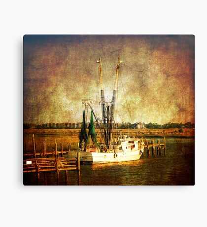 Old shrimp boat in Charleston Canvas Print