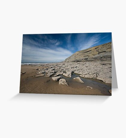 The beach, Southerndown Greeting Card
