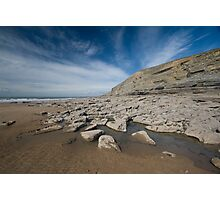 The beach, Southerndown Photographic Print
