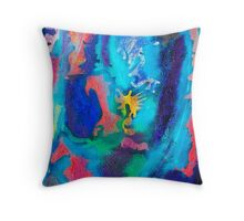 Celestial Blue Throw Pillow