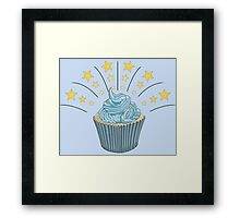 Cupcake With Stars Framed Print