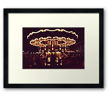 when the fire's burnin from sky to ground, swing my weight around Framed Print