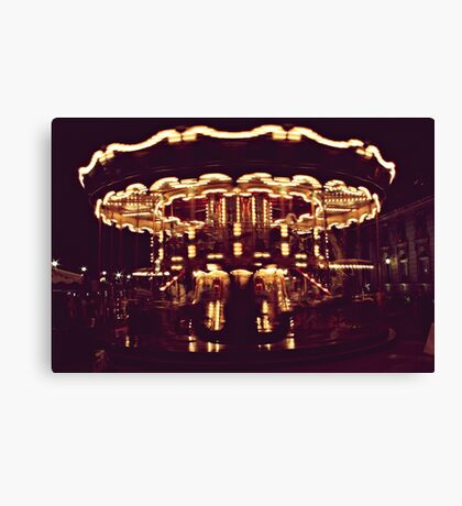 when the fire's burnin from sky to ground, swing my weight around Canvas Print