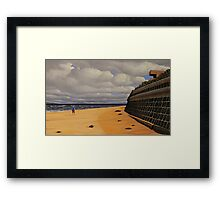 Sea Wall, Oil on Linen, 55.5x91cm Framed Print