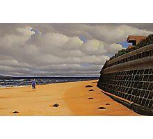 Sea Wall, Oil on Linen, 55.5x91cm Photographic Print