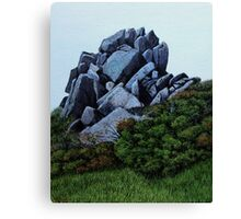 Cairn, Oil on Board-mounted Paper, 25.5x20.5  Canvas Print