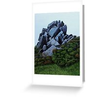 Cairn, Oil on Board-mounted Paper, 25.5x20.5  Greeting Card