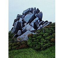 Cairn, Oil on Board-mounted Paper, 25.5x20.5  Photographic Print