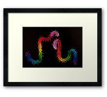 paper dragons Framed Print