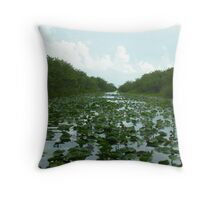 Follow the Lily Pad Road Throw Pillow