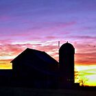 Glowing Farm Sunset by Korey Chandler