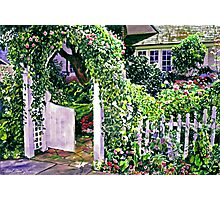 Charming Cottage Gate Photographic Print
