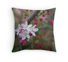 crabapple blossoms Throw Pillow