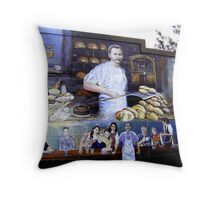 German settlers in Texas - Baking bread Throw Pillow