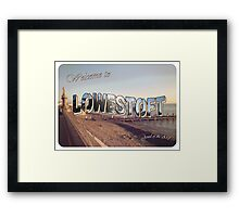 Postcard From the Edge Framed Print