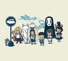 Miyazaki - All Main Characters by manupremoli