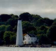 New London Harbor Light by Carrie Blackwood