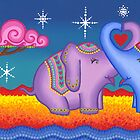 Elephant moonlight love by Elspeth McLean