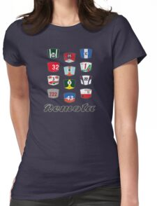 Remota - Legends of Motorsport guessing game t-shirt Womens Fitted T-Shirt