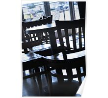 Cafe Chairs Poster