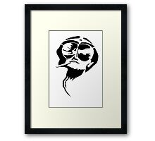 Fear and loathing | T-shirt Framed Print