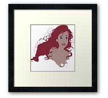 Ariel Bust Framed Print