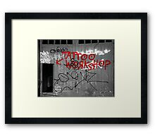 Tattoo workshop Framed Print