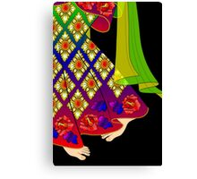 Details-3 (Balinese Dancer & Frangipani) Canvas Print