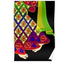 Details-3 (Balinese Dancer & Frangipani) Poster