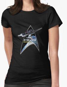 StarTrek Command Silver Signia Enterprise 1701 A Womens Fitted T-Shirt
