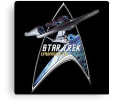 StarTrek Command Silver Signia Enterprise 1701 A Canvas Print
