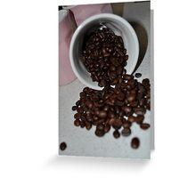 Spilt beans Greeting Card