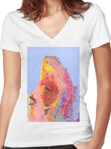 Wind in my hair Women's Fitted V-Neck T-Shirt