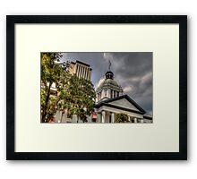 Florida State Capitol - Crop Framed Print