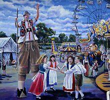 German settlers in Texas - Wurstfest by Shiva77