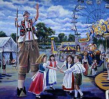 German settlers in Texas - Wurstfest by Shiva77