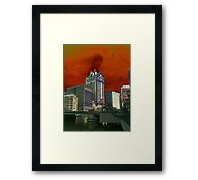Downtown Milwaukee River Walk ©  Framed Print